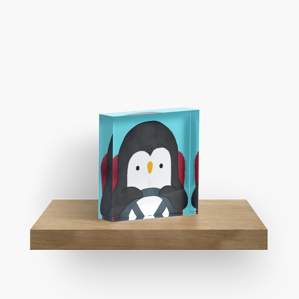 Penguin Driving Acrylic Block