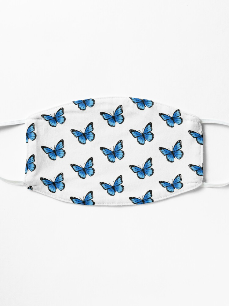 Alternate view of Blue Butterfly Mask