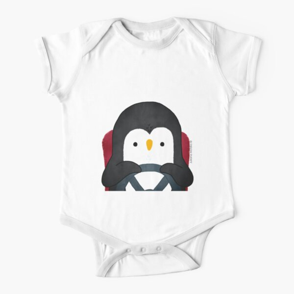 Penguin Driving Short Sleeve Baby One-Piece