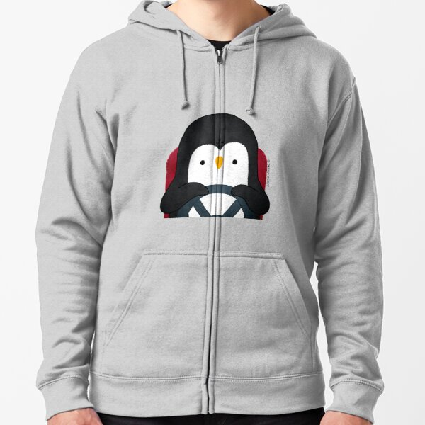 Penguin Driving Zipped Hoodie