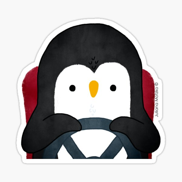 Penguin Driving Sticker