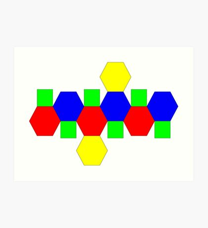 Net of a Truncated Octahedron Art Print
