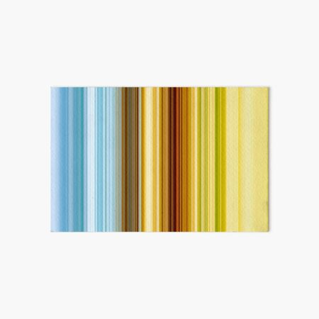 Blue, Green and Gold Stripes Art Board Print