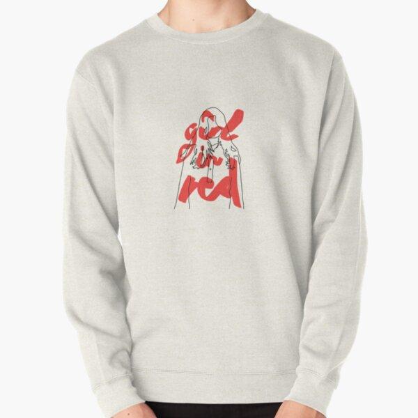 fille en rouge Sweatshirt épais