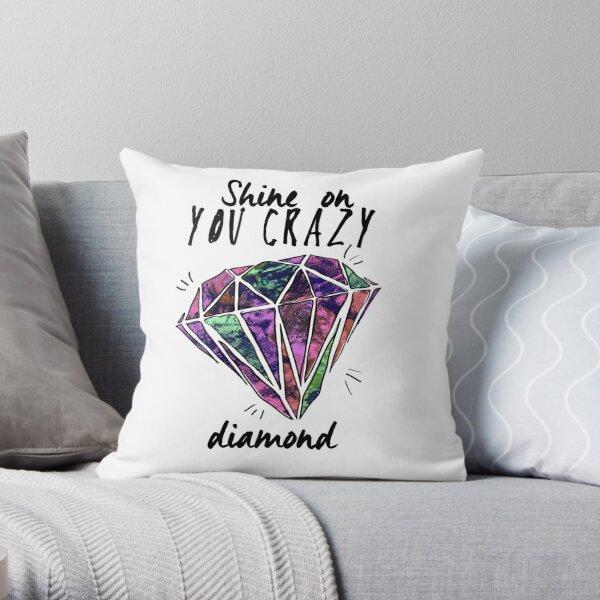 crazy diamond Throw Pillow