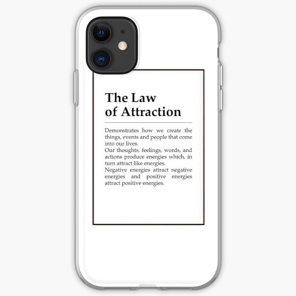 the law of attraction definition iPhone Soft Case