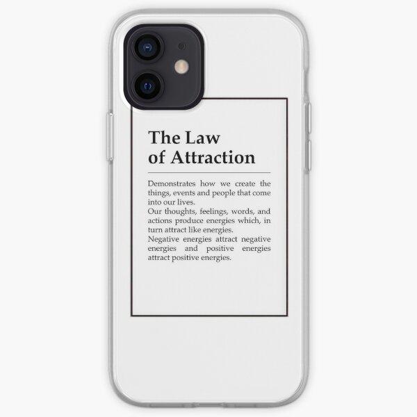 definición de la ley de la atracción Funda blanda para iPhone