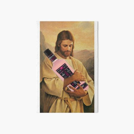 God said let there be Pink Whit Art Board Print