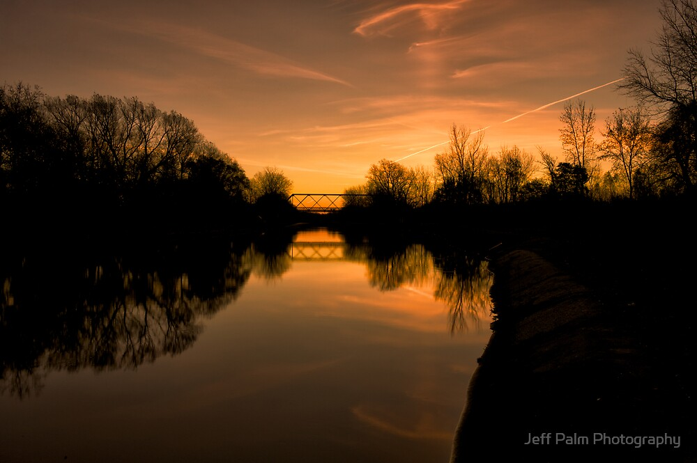 Sunrise over the Erie Canal by Jeff Palm Photography