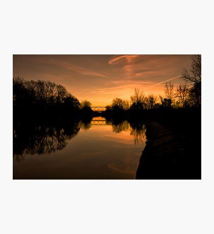 Sunrise over the Erie Canal Photographic Print