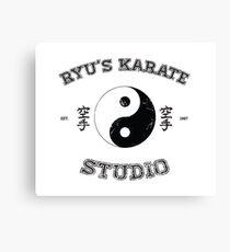 Ryu's Karate Studio Canvas Print