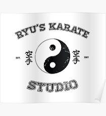 Ryu's Karate Studio Poster