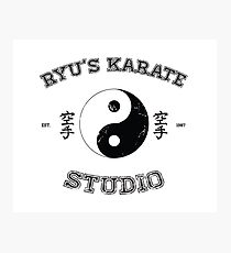 Ryu's Karate Studio Photographic Print