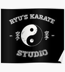 Ryu's Karate Studio - Black Version Poster