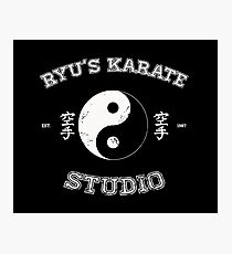 Ryu's Karate Studio - Black Version Photographic Print