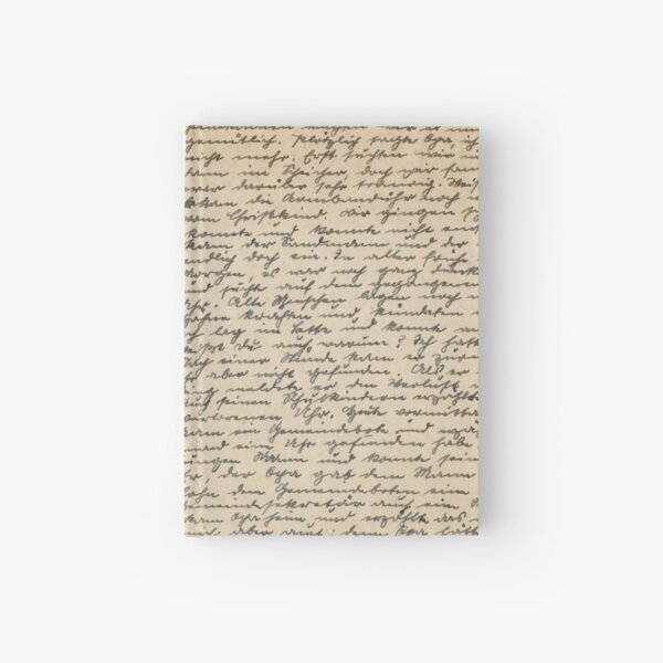 Old-fashioned handwriting Hardcover Journal