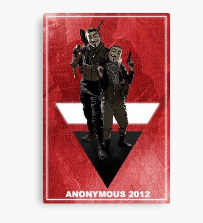 Anonymous 2012  Canvas Print