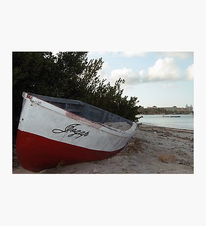 Beached in Aruba  Photographic Print