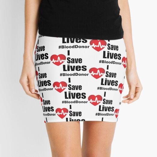 I Save Lives - Blood Donor Mini Skirt