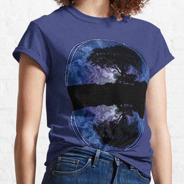 Nightfall: Twilight scenery, trees, sky, stars Classic T-Shirt