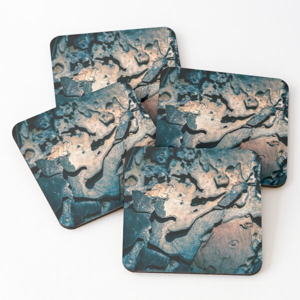 Curved Bark Coasters (Set of 4)