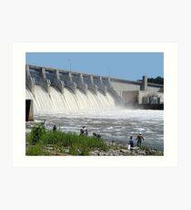 Fishing Eufaula Dam Art Print