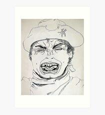 the Sherriff ain't happy . . .  Art Print