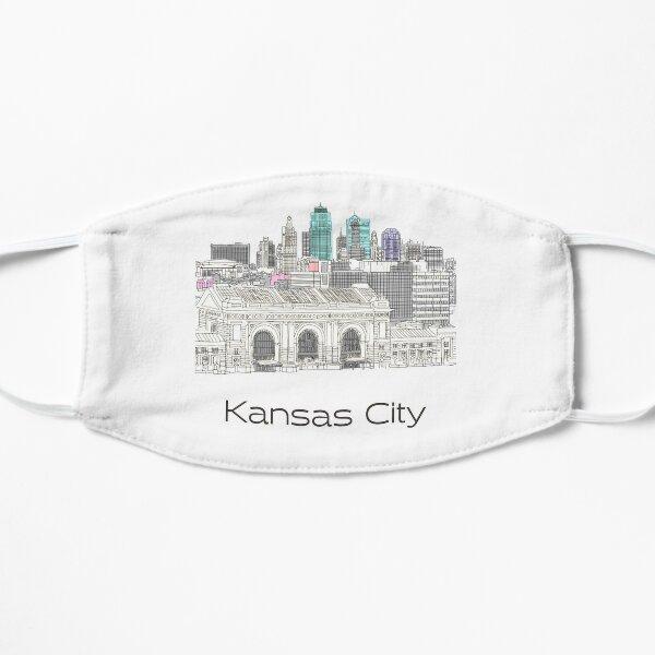 Hand Drawn Kansas City Skyline Mask