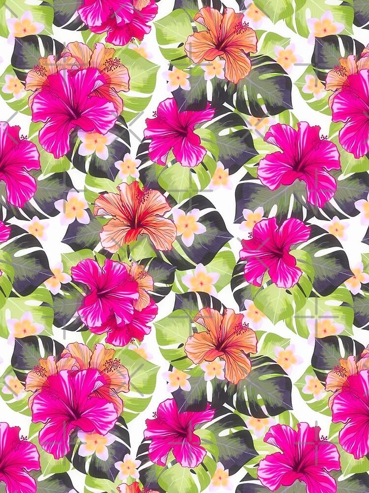 Hibiscus Pattern  by Amanda-Lakey
