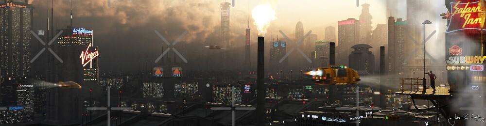 Nightfall on Caliber City by Jacob Charles Dietz