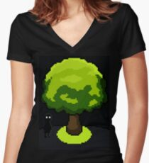 In The Shadows Women's Fitted V-Neck T-Shirt
