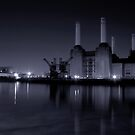 Battersea Power station Black and white by Dean Messenger