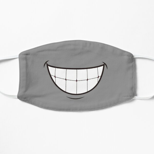 Grinning Cartoon Mouth Mask