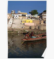 Two Men in a Boat by Nishradraj Ghat Poster