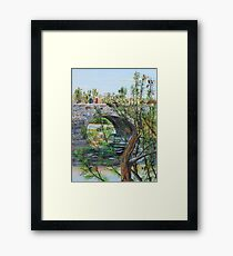 Ahnapee River Crossing on the Ice Age Trail in Wisconsin Framed Print