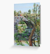 Ahnapee River Crossing on the Ice Age Trail in Wisconsin Greeting Card