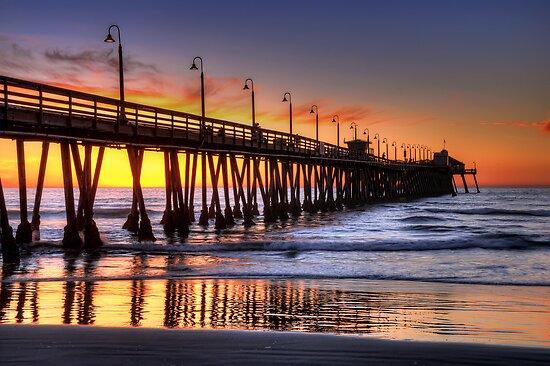 Imperial Beach Pier by Eddie Yerkish