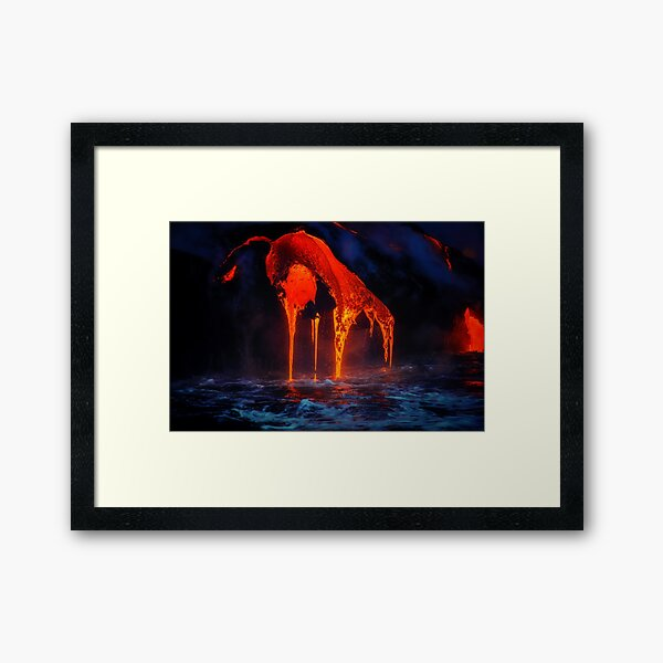 Lava Framed Art Print