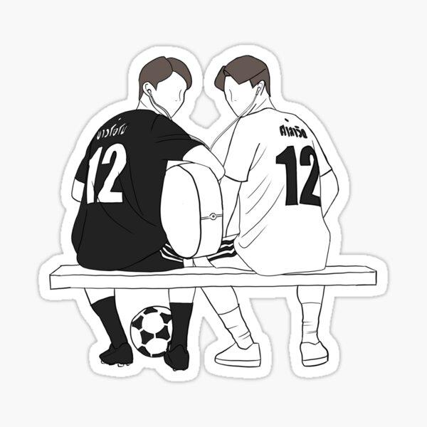 Sarawat et Tine (2gether The Series Fan Sketch) Sticker