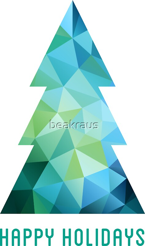 Quot Abstract Geometric Christmas Tree Quot Stickers By Beakraus