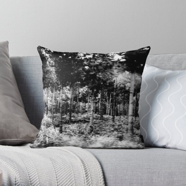 Can't see for the trees Throw Pillow