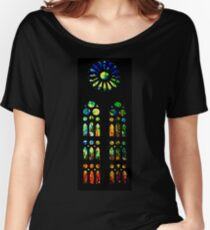 Stained Glass Windows - Sagrada Familia, Barcelona, Spain Women's Relaxed Fit T-Shirt