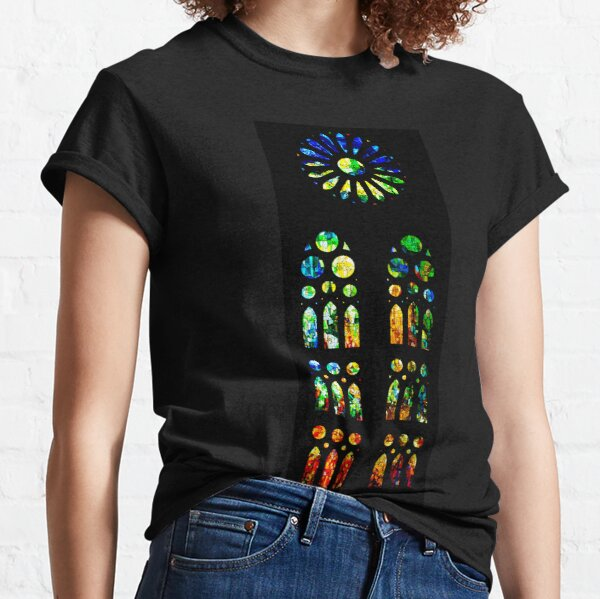 Stained Glass Windows - Sagrada Familia, Barcelona, Spain Classic T-Shirt