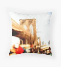 the bridge my baby and i cross Throw Pillow