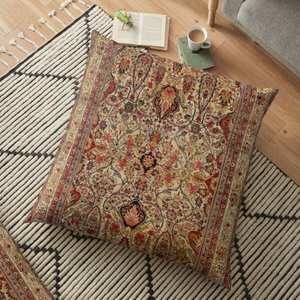 Lavar Kirman Southeast Persian Rug Print Floor Pillow