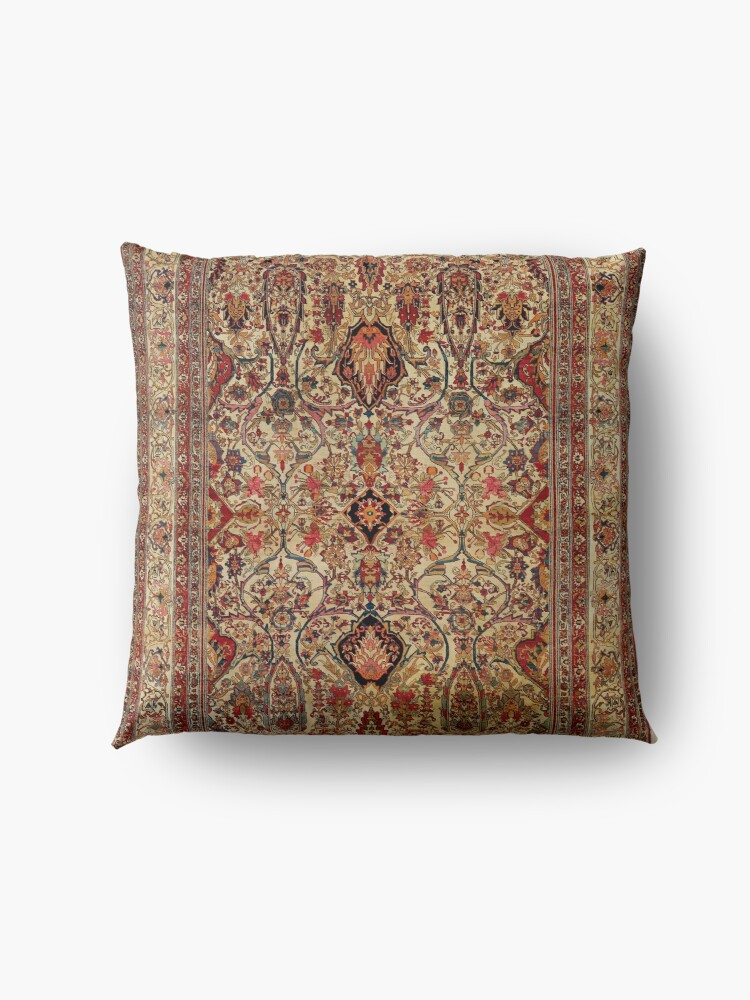 Alternate view of Lavar Kirman Southeast Persian Rug Print Floor Pillow