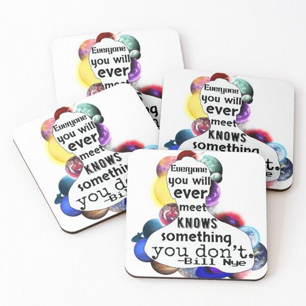 Bill Nye Silhouette Coasters (Set of 4)