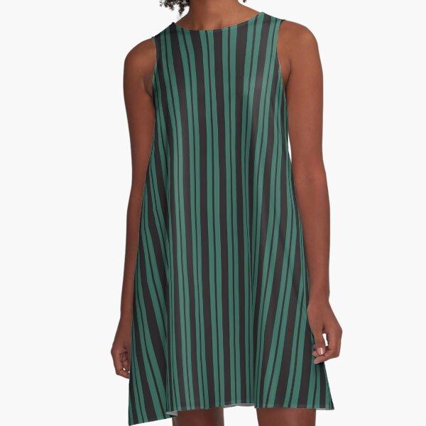 Wall to Wall Creeps and Stripes A-Line Dress