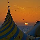 Sunset Tent by clare scott