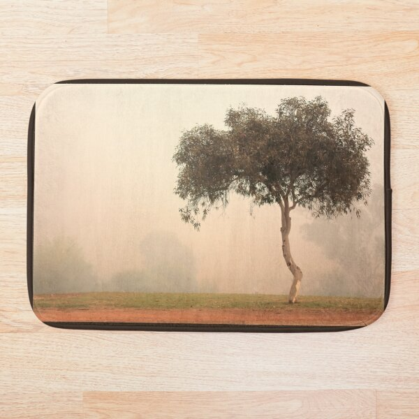 Foggy Morning, Bridgetown, Western Australia Bath Mat